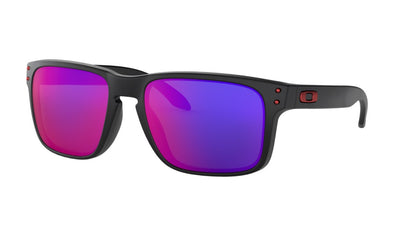 OAKLEY HOLBROOK MATTE BLACK W/ + RED IRIDIUM