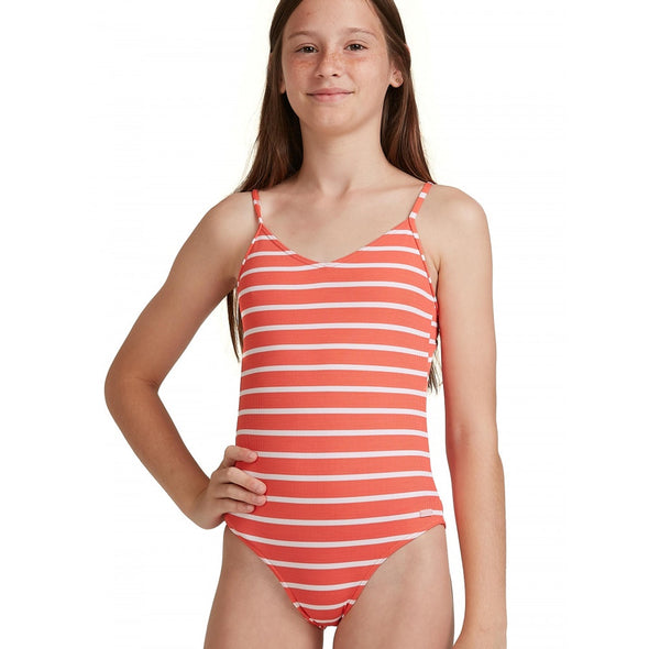 ROXY KINDA SAVAGE ONE PIECE - GIRLS - DEEP SEA CORAL