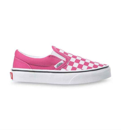 VANS CLASSIC SLIP ON CHECKERBOARD - FUCHSIA PURPLE/TRUE WHITE