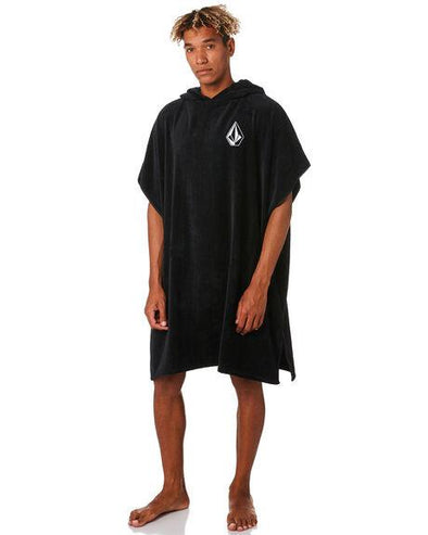 VOLCOM STONE HOODED TOWEL - BLACK