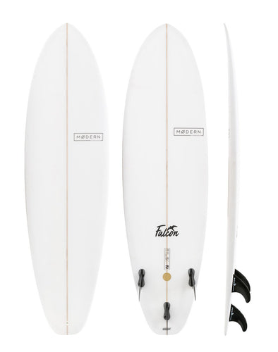 MODERN SURFBOARDS 7'6 FALCON PU CLEAR