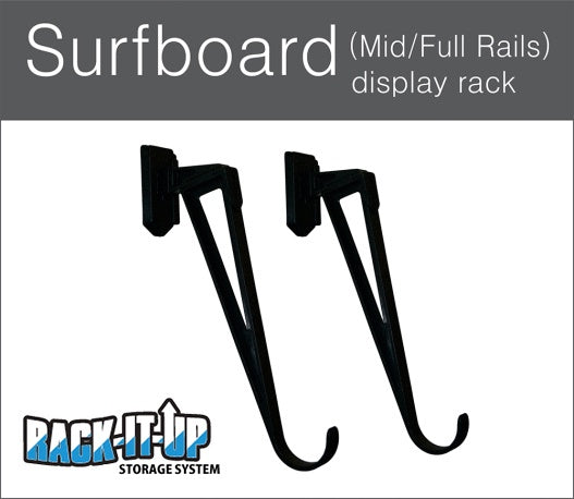 RACK IT UP SURFBOARD DISPLAY RACK 15 DEGREE ANGLE