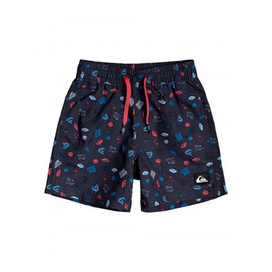 QUIKSILVER MINI RAVE VOLLEY BOY 12 - KVJ6 BLACK
