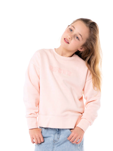RUSTY SUBLIME CREW NECK FLEECE GIRLS - RSC