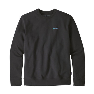 PATAGONIA M'S P-6 LABEL UPRISAL CREW SWEATSHIRT - BLACK