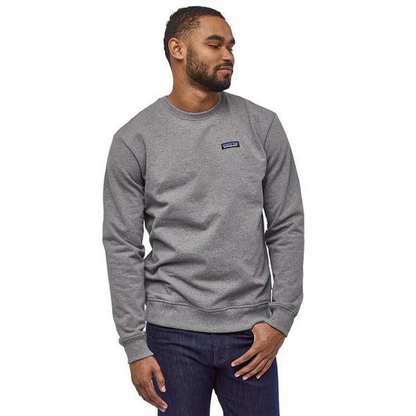 PATAGONIA M'S P-6 LABEL UPRISAL CREW SWEATSHIRT - GRAVEL HEATHER