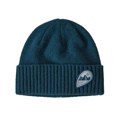 PATAGONIA BRODEO BEANIE - TUBE VIEW: CRATER BLUE
