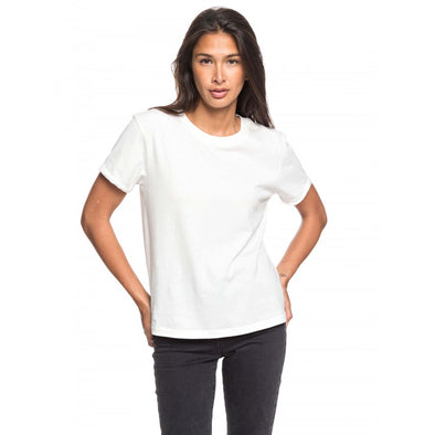 ROXY SURFING IN RYTHM A WOMENS TEE SHIRT - SNOW WHITE