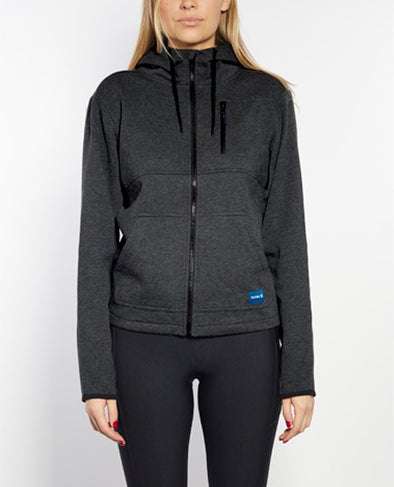 HURLEY HEAT FLARE FLEECE - BLACK HEATHER