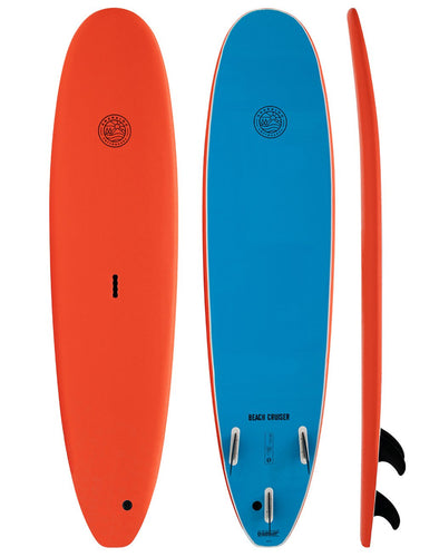 GNARLOO SOFTBOARDS 7'0 BEACH CRUISER - ORANGE/BLUE