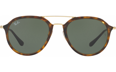 RAY BAN 710 53 - LIGHT HAVANA W/ GREEN-PT - 53