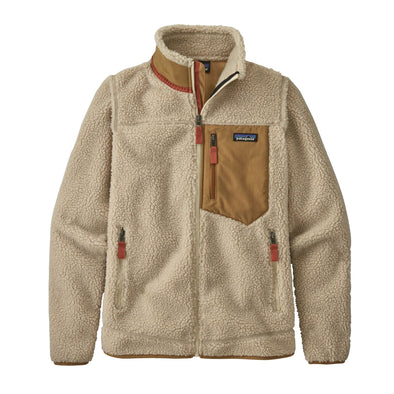 PATAGONIA W'S CLASSIC RETRO-X JACKET - NATURAL W/ NEST BROWN