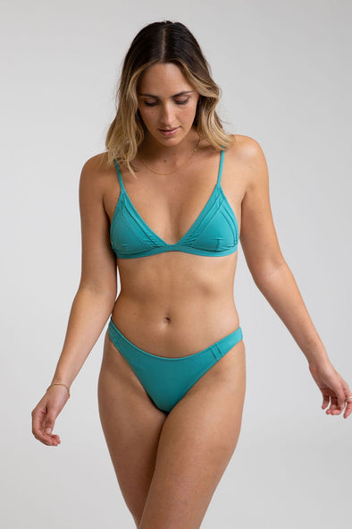 RHYTHM-SEASIDE BRALETTE TOP SET - JADE