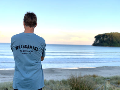 Whanga Surf CORE LOGO TEE - FADED SLATE