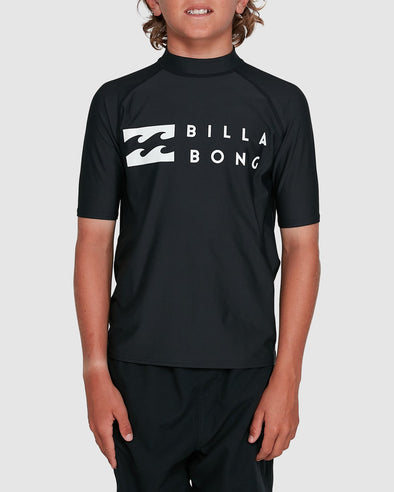 BILLABONG BOYS UNION FS S/S RASHVEST - BLACK