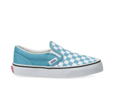 VANS CLASSIC SLIP ON CHECKERBOARD - DLPHNM BLUE/TRUE WHITE