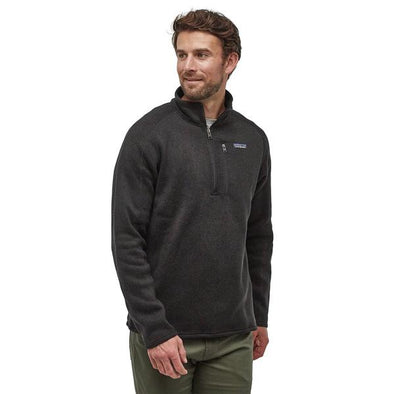 PATAGONIA M'S BETTER SWEATER 1/4 ZIP - BLACK