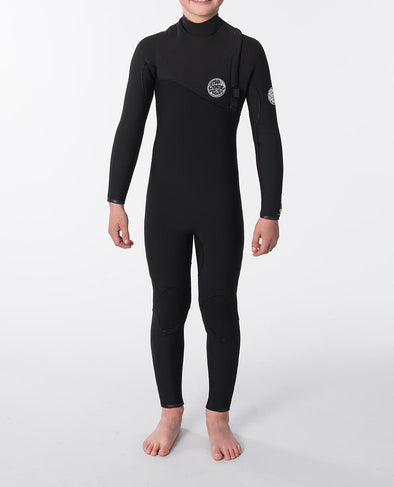 RIP CURL JNR.FBOMB 4.3MM GB Z/FREE STEAMER - BLACK