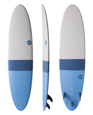 NSP ELEMENTS FUN SURFBOARD 6'8 - SKY BLUE