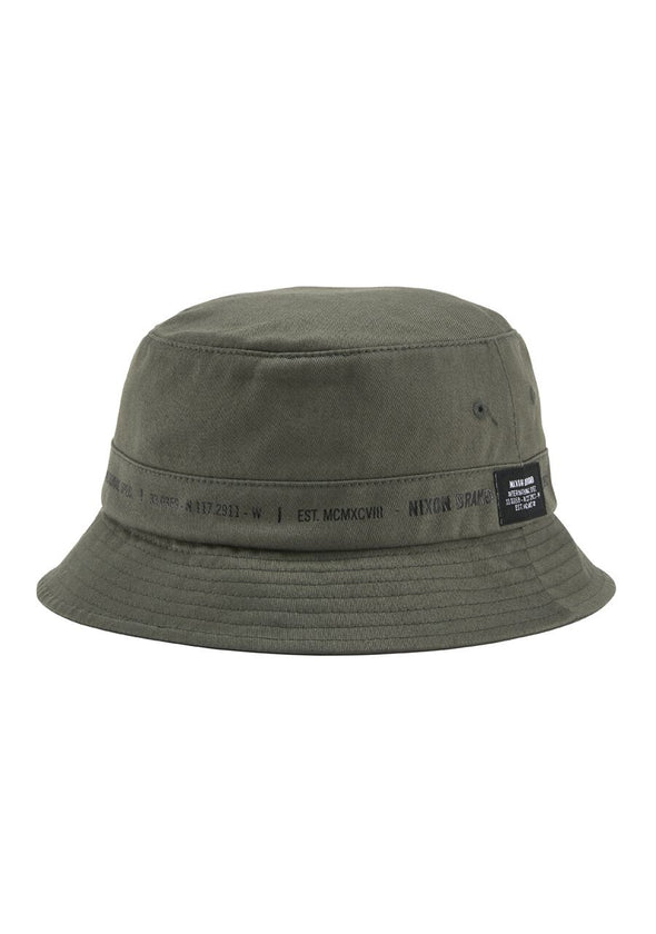 NIXON MURRAY BUCKET HAT - OLIVE