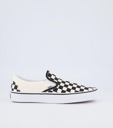 VANS KIDS CLASSIC SLIP ON CHECKERBOARD - BLACK/WHITE
