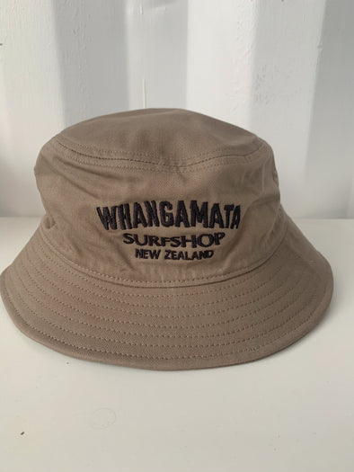 WHANGA SURF BUCKET HAT - BROWN