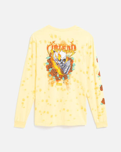 HURLEY TOLEDO PRO SERIES BOYS L/S TEE - 709 WASHED YELLOW