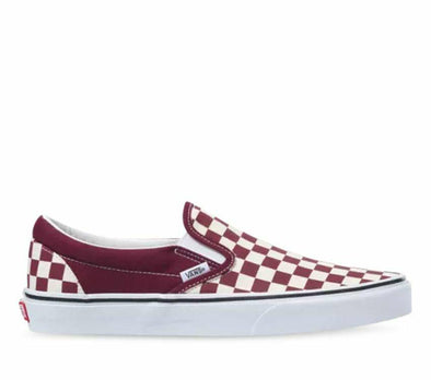 VANS CLASSIC SLIP ON CHECHERBOARD - PORT ROYALE/TRUE WHITE