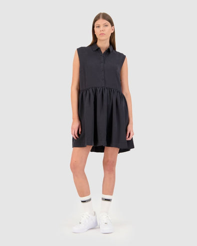HUFFER INK LAURN DRESS - BLACK