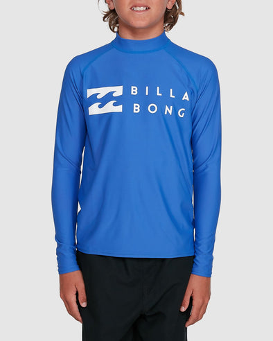 BILLABONG BOYS UNION RASHVEST L/S - COBALT