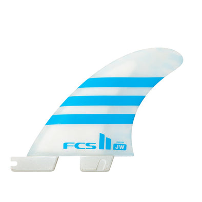 FCS JW PC BLUE/WHITE GROM TRI FINS - JULIAN WILSON