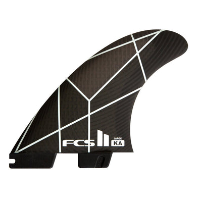 FCS II KA PC LARGE WHITE/GREY TRI RETAIL FINS -- KOLOHE ANDINO