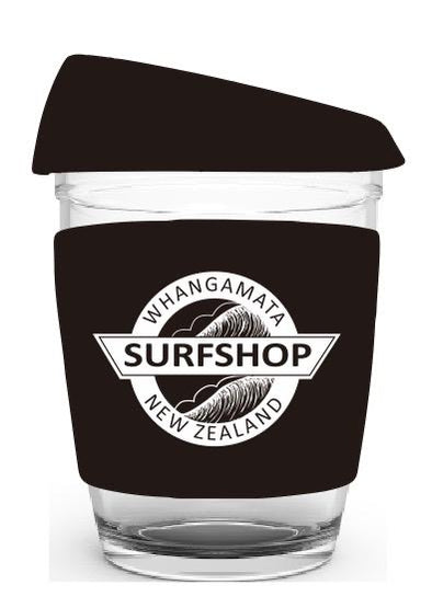Whanga Surf Glass Coffee Cups