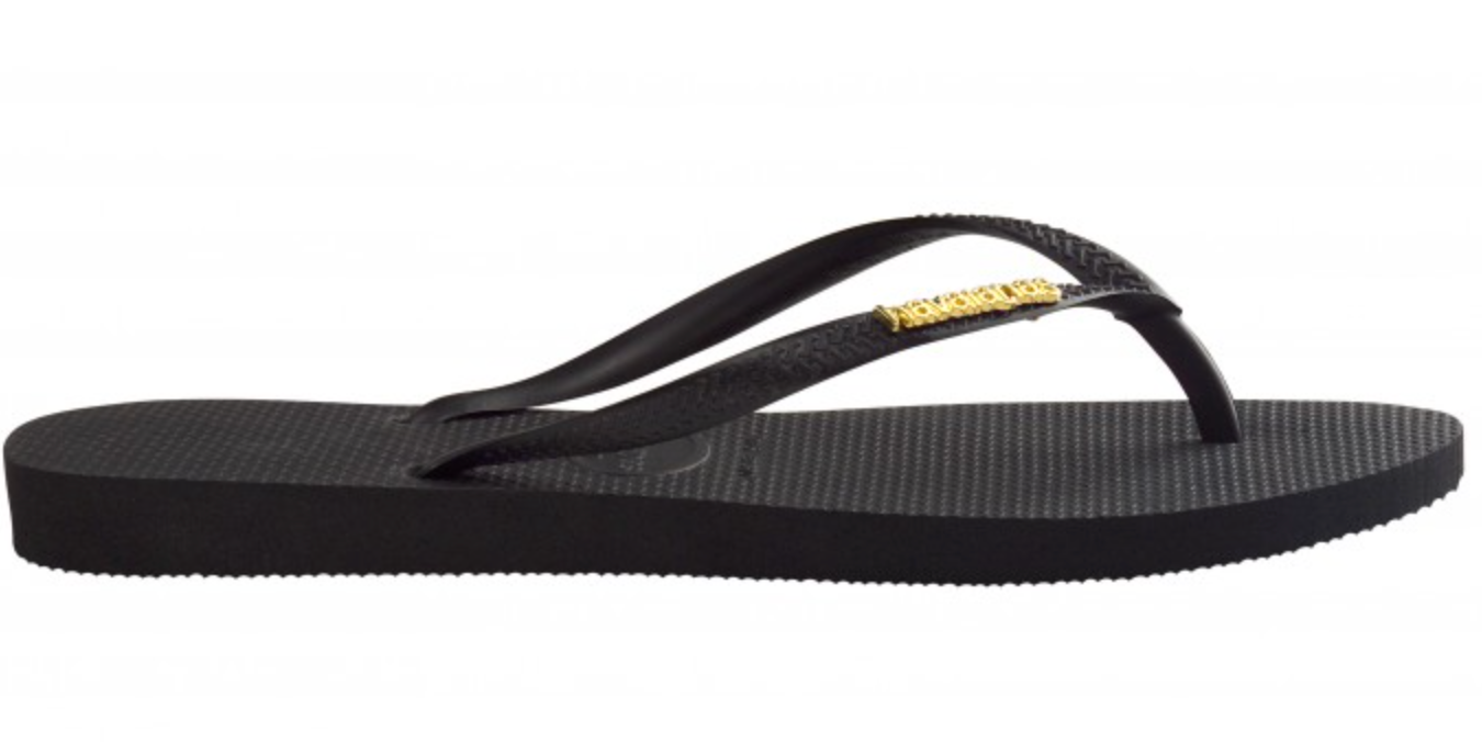 296e8600c6bf Havaianas SLIM METAL LOGO BLACK GOLD – Whangamata Surf Shop