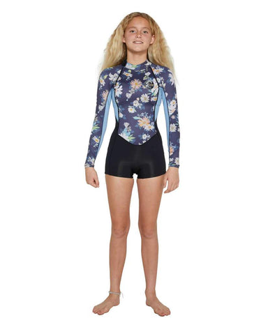 ONEILL GIRLS BAHIA L/S SPRING 2MM - BLACK/DAISY/BLUE