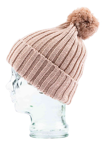 RUSTY ROOLIN BEANIE - PEACHY KEEN/SABLE