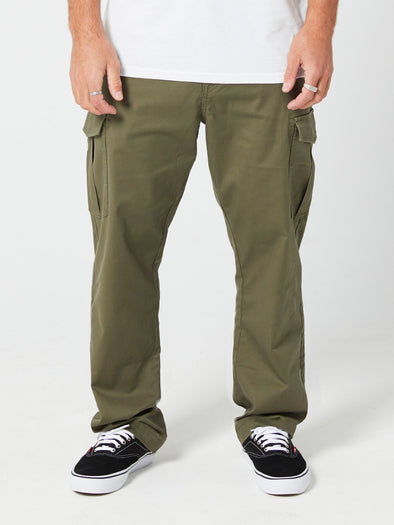 VOLCOM REVEL STRETCH CARGO PANT - MIL