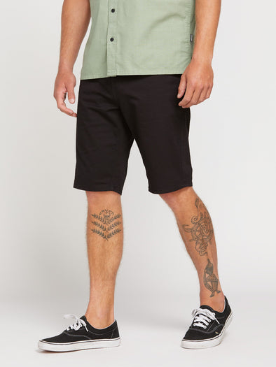 VOLCOM SOLVER LITE 5 POCKET SHORT-BLK