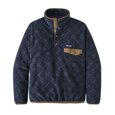 PATAGONIA M'S LW SYNCH SNAP-T P/O - FEILD GEO SMALL: NEW NAVY