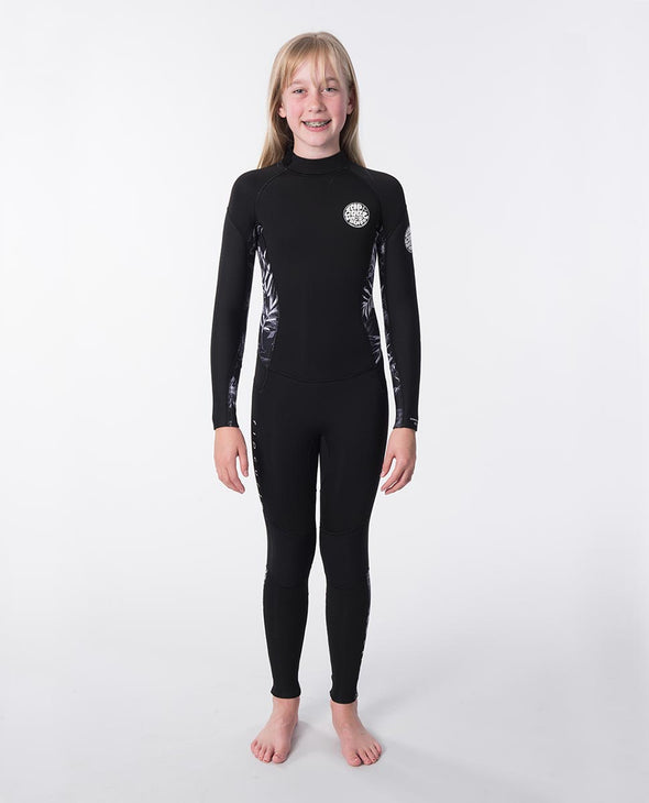 RIP CURL JNR.GIRL D/PAT 43GB B/ZIP - 0090 BLACK/GREY