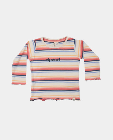 RIP CURL GOLDEN L/S TEE - GIRL - BONE