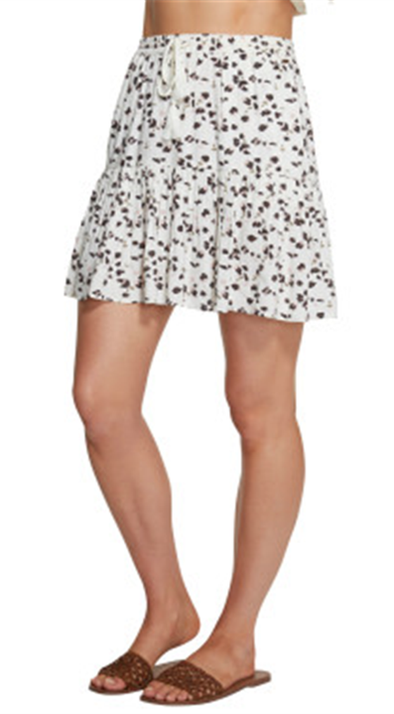 ONEILL SANDOLLAR MINI SKIRT - LEOPARD BORDER