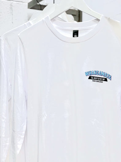 Whanga Surf CORE LOGO LONG SLEEVE TEE - WHITE