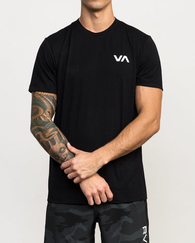 RVCA VA VENT S/S TOP - BLACK