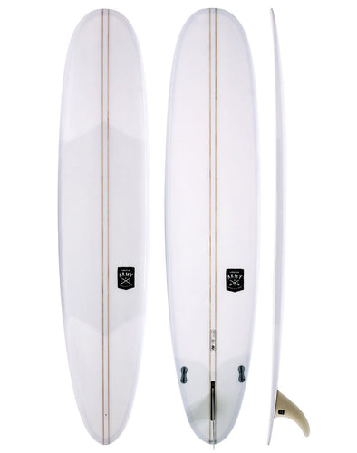 CREATIVE ARMY SURFBOARDS 9'1 FIVE SUGARS CLEAR DOUBLE STRINGER