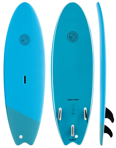 GNARLOO SOFTBOARDS 5'6 FLOUNDER POUNDER