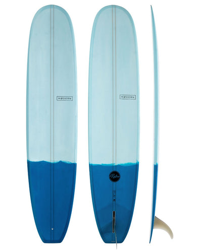 MODERN SURFBOARDS 9'1 RETRO TWO TONE BLUE