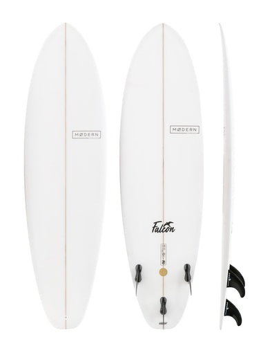 MODERN SURFBOARDS 6'8 FALCON PU CLEAR