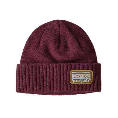 PATAGONIA BRODEO BEANIE - FITZ ROY RAMBLER: CHICORY RED