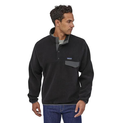 PATAGONIA M'S LW SYNCH SNAP-T P/O - BLACK W/ FORGE GREY